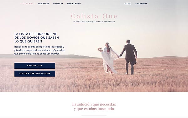 Blog de bodas Calista One portada