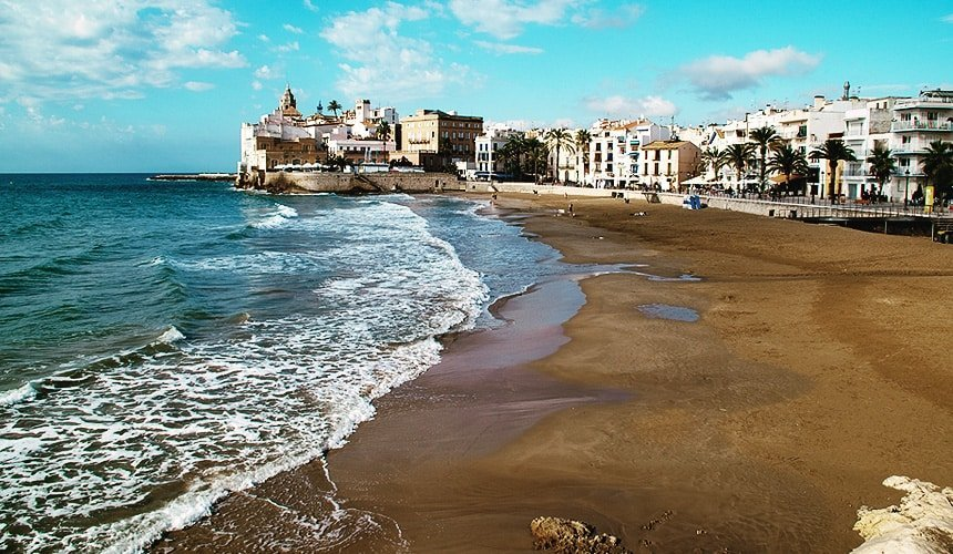 Sitges Beach on Catalonia Spain