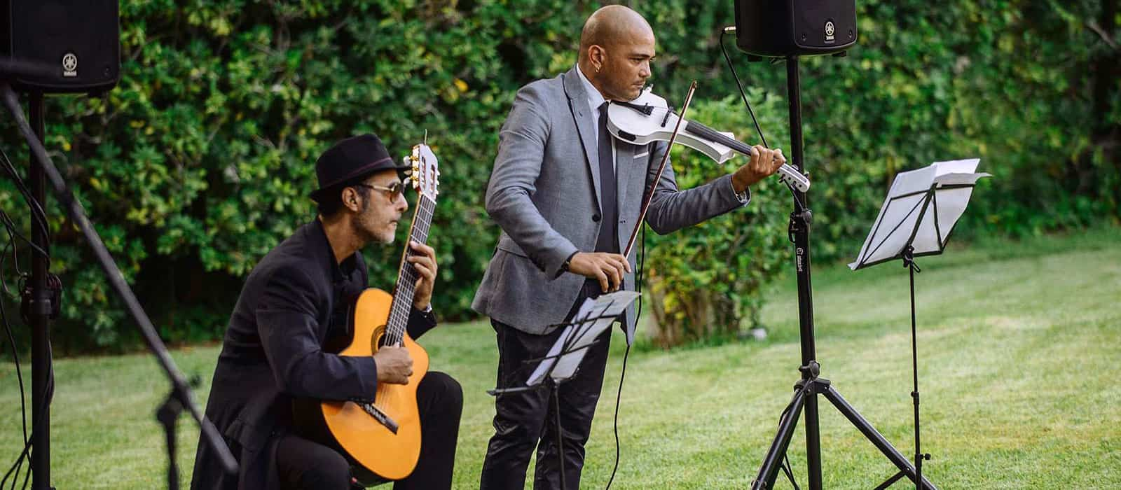 Musicians for a wedding ceremony