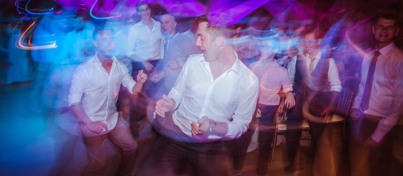Guest dancing in a wedding band in spain