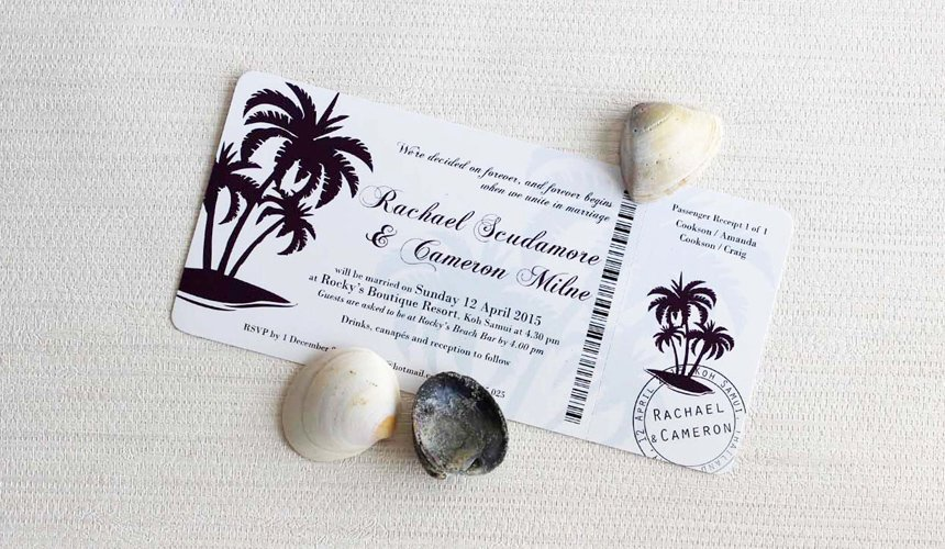 wedding destination original invitation
