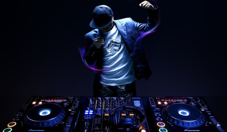 wedding DJ performance