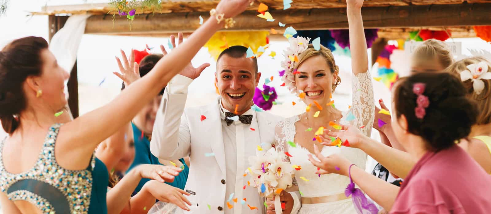 colourful wedding in spain