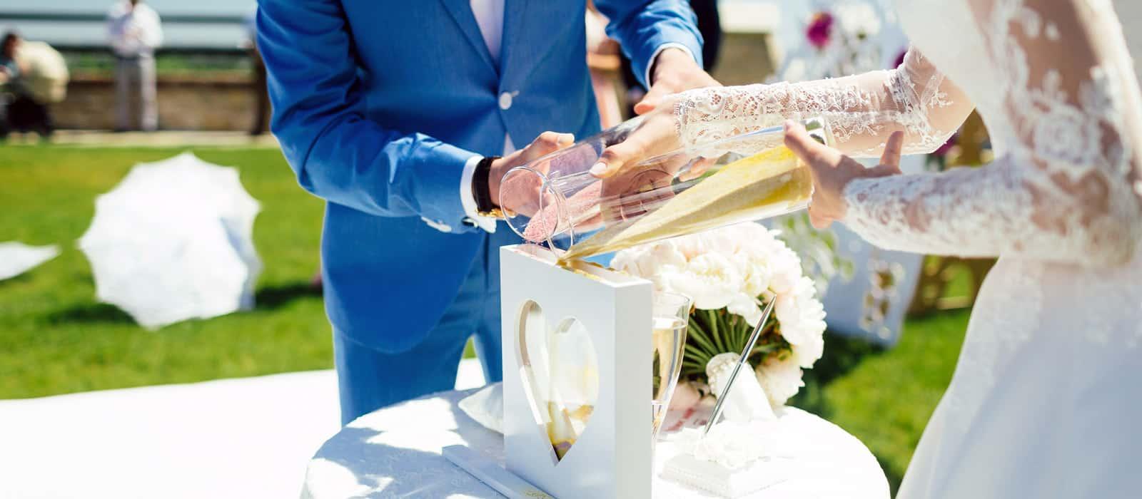 ceremonia de la arena en boda