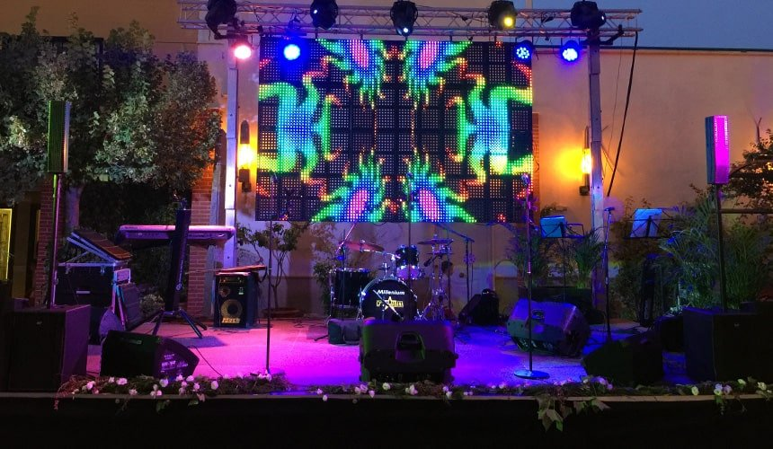 Live band stage
